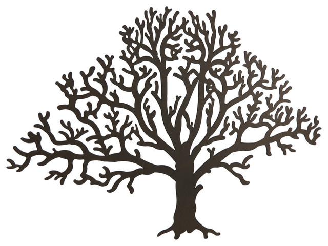 Metal Brown Tree Decorative Wall Hanging