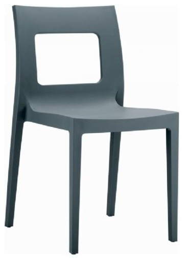 Lucca Dining Chair, Dark Gray.