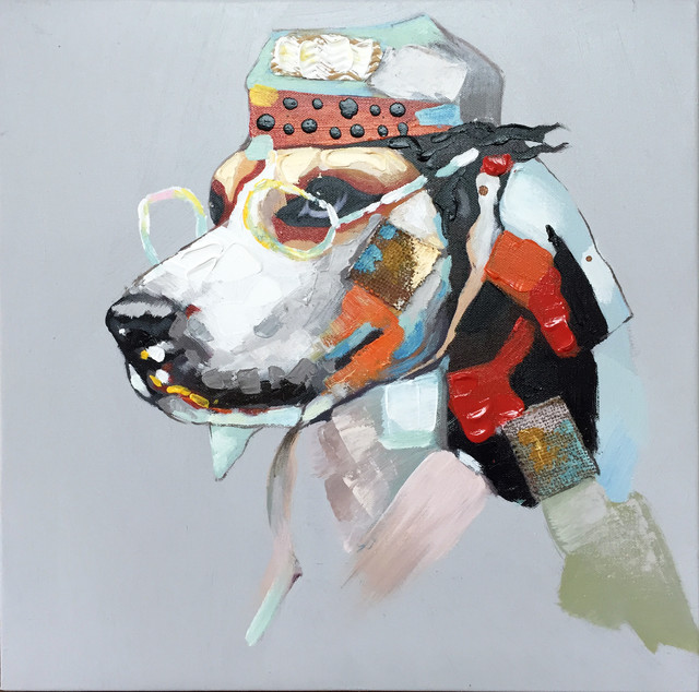 Wall Decor Painting Urban Dogs I Eclectic Paintings Part 51