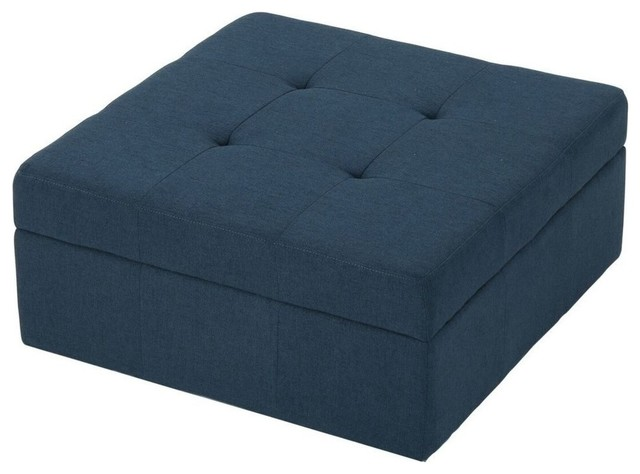 Superb Gdf Studio Channing Navy Blue Fabric Tufted Cover Storage Ottoman Caraccident5 Cool Chair Designs And Ideas Caraccident5Info
