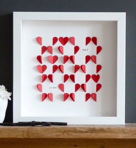 Love Hearts Framed Picture contemporary artwork