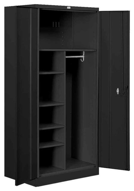 heavy duty storage combination cabinet, black - contemporary