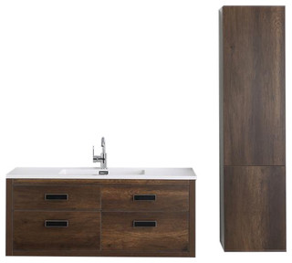 sink cabinets for kitchen 48 quot streamline k1820 161 48 551s floating vanity brown 5275