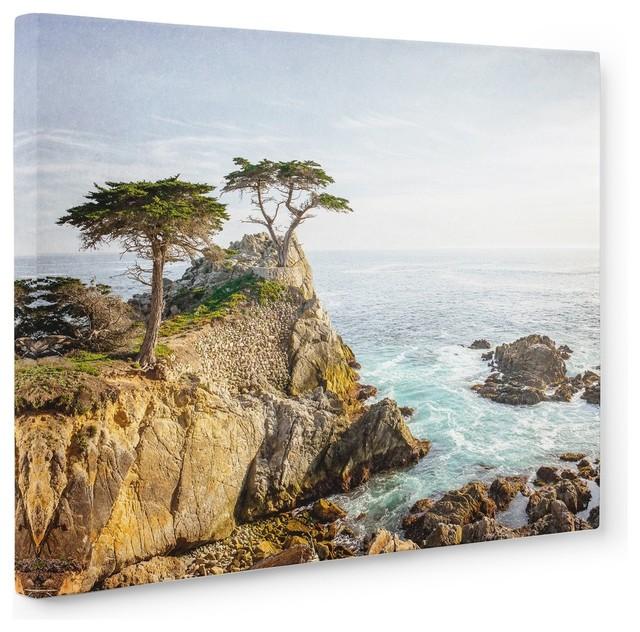 Seascape Malibu California Pink Horizon Canvas Wall Art Picture Home Decor