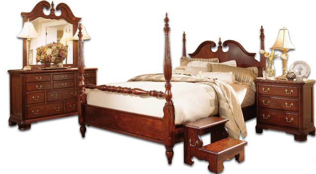 American drew cherry grove low poster bedroom set - American drew cherry bedroom set ...