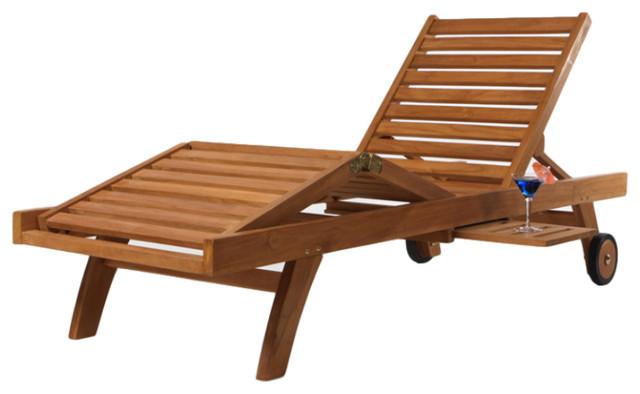 teak chaise lounge
