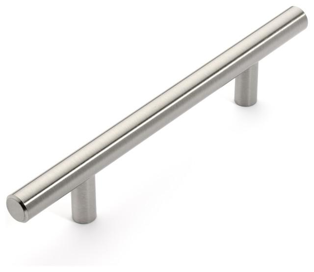 European Style Satin Nickel Bar Pulls - Modern - Cabinet And Drawer Handle Pulls - by Door Corner