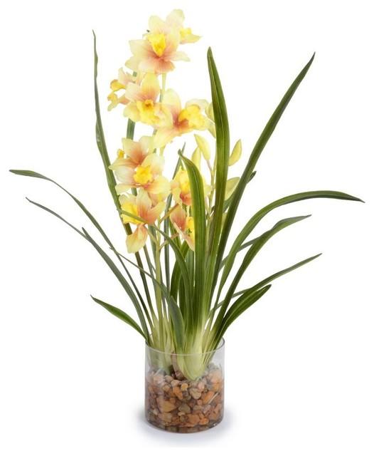 Cymbidium Arrangement Transitional Artificial Flower