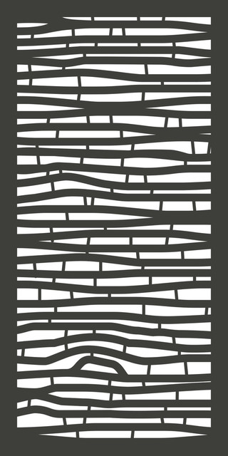 """Bamboo Wpc Design Panel, Charcoal, 48""""x24""""."""