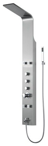 BOANN Stainless Steel Rainfall Shower Panel System With 4 Adjustable Jets/Hand by Boann