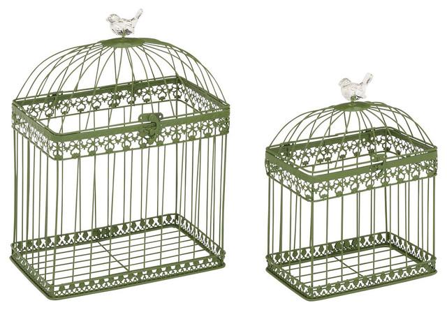 Adorable and Unique Acrylic Bird Cages, 2 Piece Set