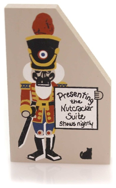 Cats Meow Village Nutcracker Wood Accessory Christmas Sign Suite 202.