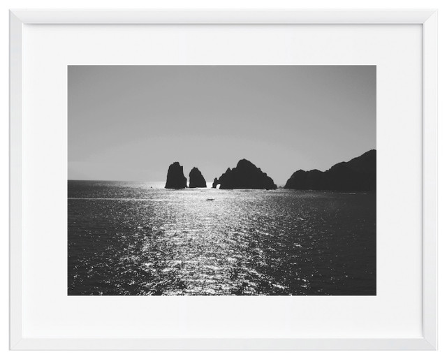 Vast ocean wall art art print black and white contemporary modern 12x16