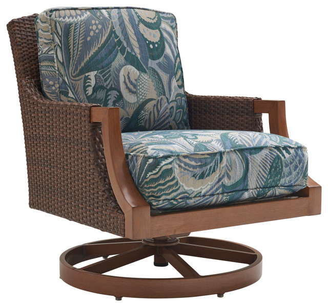 Tommy Bahama Harbor Isle Patio Swivel Rocker Lounge Chair In Green Tropical Outdoor Rocking Chairs By Lexington Home Brands