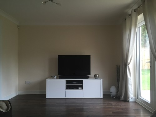 Ideas For Bare Wall Behind TV