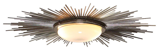 online store 84c8d 9767f XL Silver Sunburst Ceiling Light Fixture, Chandelier Flush Mount Deco Modern