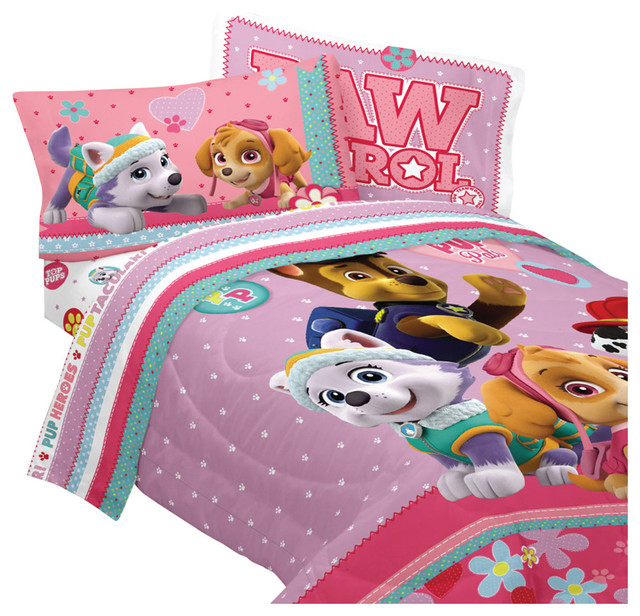 Greatest Paw Patrol Twin Bedding Set Best Pup Pals Comforter Sheets  CX68