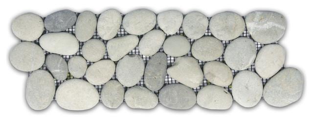 4 Quot X12 Quot Bali Cloud Pebble Tile Border Traditional