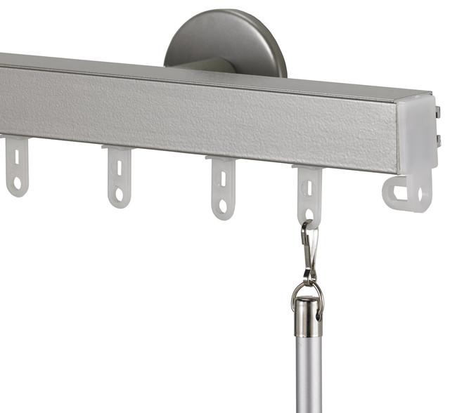 Art Decor Nexgen Non Telescoping Aluminum Traverse Rod In Antique Silver Curtain Rods Houzz