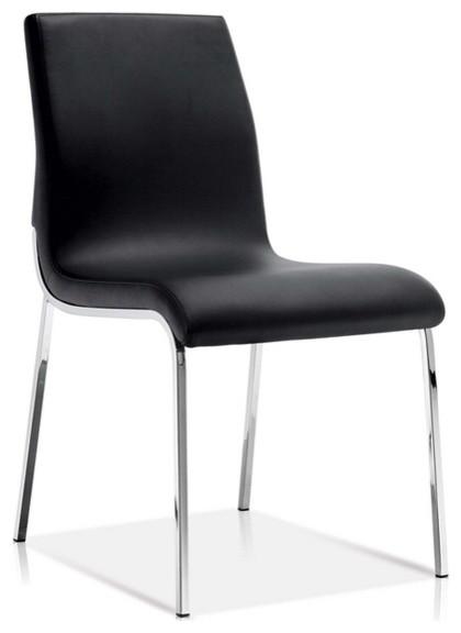 Sleek Modern Dining Chair Black Chairs