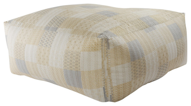 Stupendous Neutral Oversized Kantha Pouf Ottoman Gmtry Best Dining Table And Chair Ideas Images Gmtryco