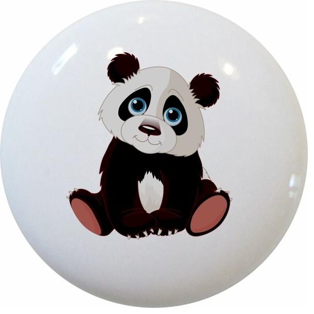 Baby Panda Bear Ceramic Cabinet Drawer Knob