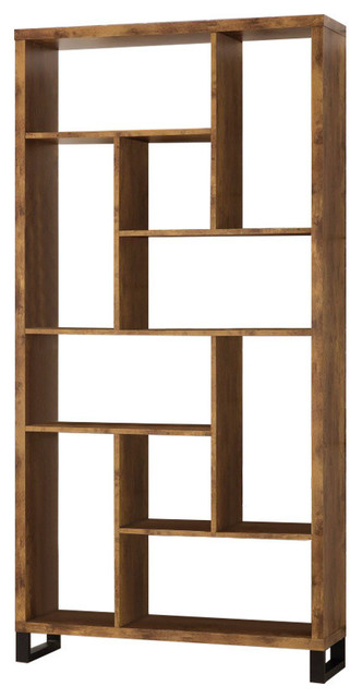 Bookcase With Multiple Shelves, Brown.