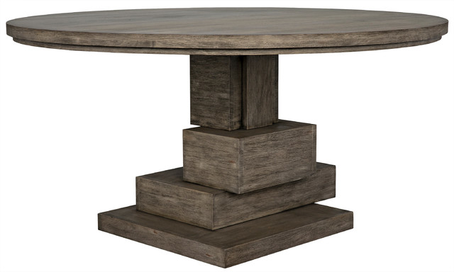 Hancock Dining Table Distressed Grey Farmhouse Dining Tables By Noir