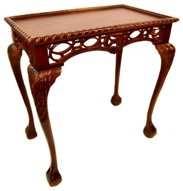 Gothic Chippendale Table Asian Side Tables And End Tables By Oriental Furnishings