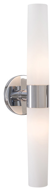 Saber 2 Light Bathroom Vanity Light in Chrome