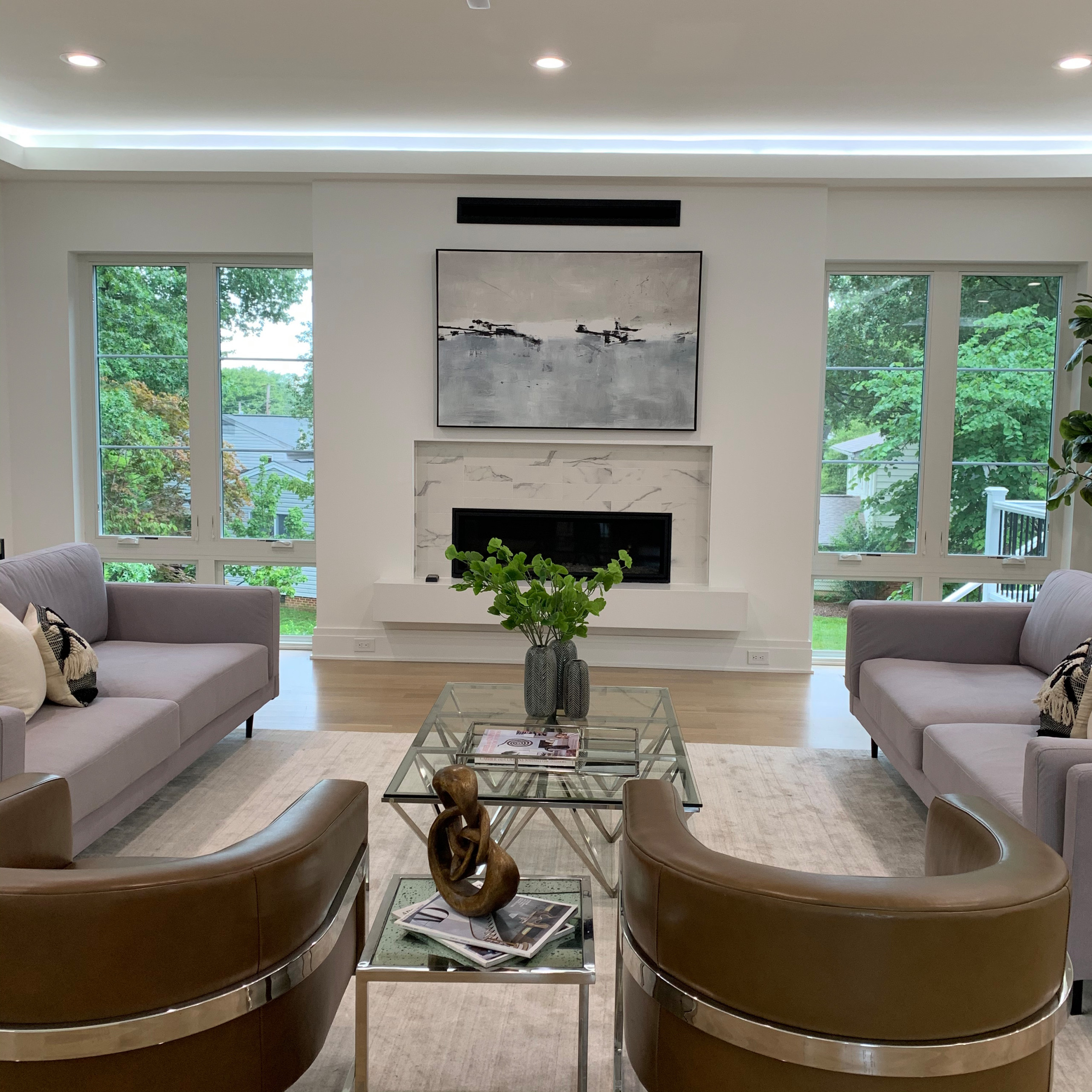 Luxury New Construction Living Room
