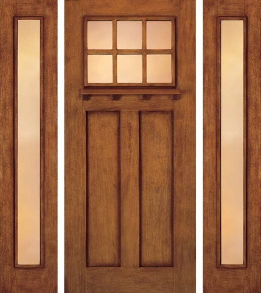 Jeld Wen A362 Door And A1103 Sidelights Mahogany Woodgrain