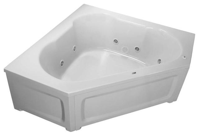 """Proflo Pfwplusa6060l 60""""x60"""" Whirlpool Bathtub, White."""
