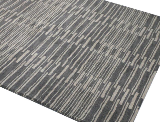 Bashian Princeton Area Rug, Gray, 5'x7.6'
