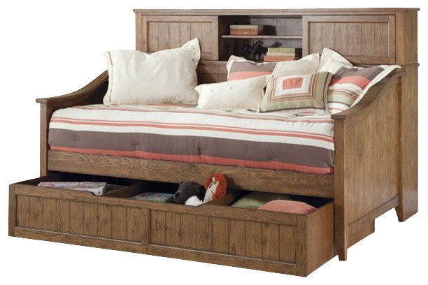 Liberty Furniture Hearthstone Youth Twin Daybed, Rustic Oak transitional- daybeds - Liberty Furniture Hearthstone Youth Daybed, Rustic Oak