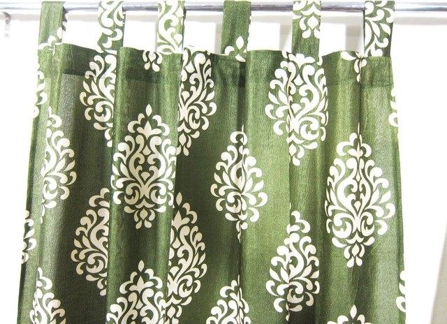 patterned curtains luxurious drapes drapery window panels pair tab top india 48