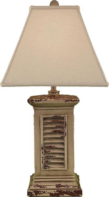 Shutter Table Lamp : Square shutter pot farmhouse table lamps by hedgeapple