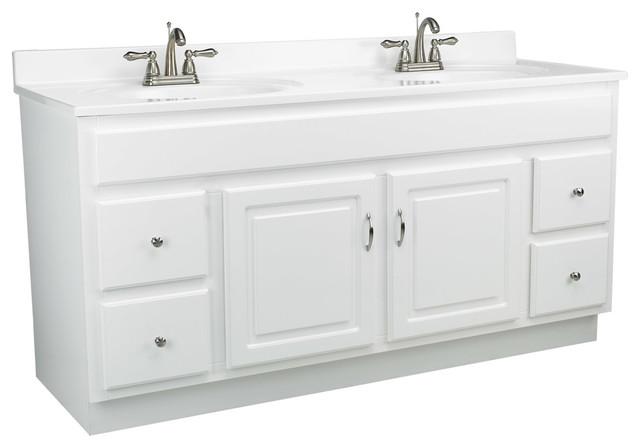 Concord 60 X21 Vanity 2 Door 4 Drawer White Gloss Finish