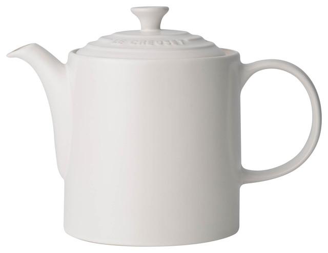 Le Creuset Stoneware Grand Teapot, 1.3 L, Cotton