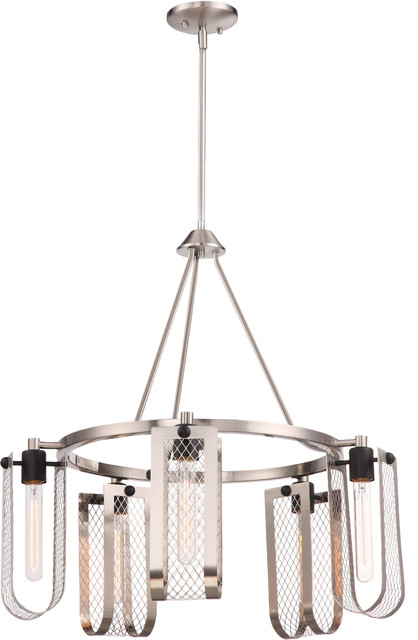 Bandit 5 Light Hanging Fixture Silver