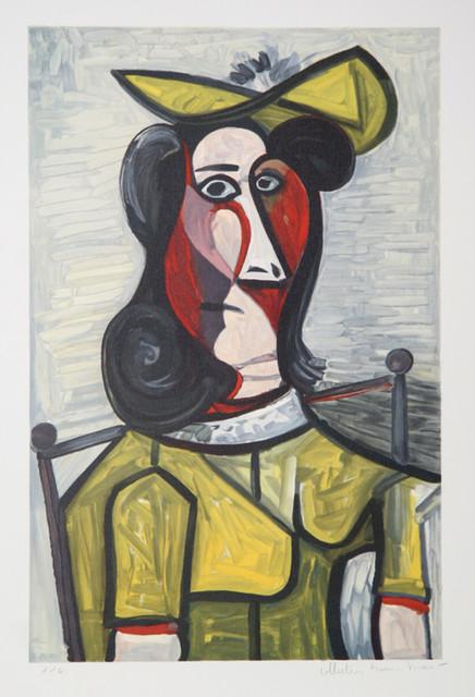 Pablo Picasso Portrait De Femme Au Chapeau 5 A
