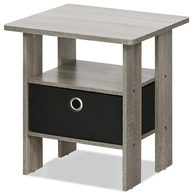 Pee End Table Bedroom Night Stand French Oak Grey