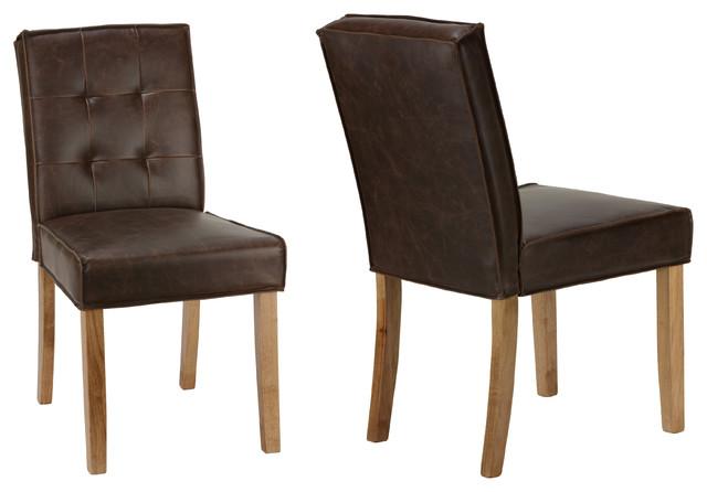 Cortesi Home Alamo Chair, Antique Brown, Set of 2 by Cortesi Home