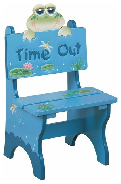 Teamson Kids Froggy Hand Painted Kid Time Out Chair Traditional Kids Chairs