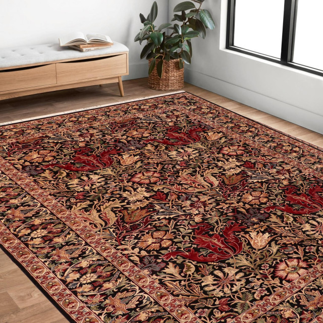 William Morris Pak Persian Annalee Wool Area Rug 6 1 X 8 11 Traditional Area Rugs By Bareens Designer Rugs