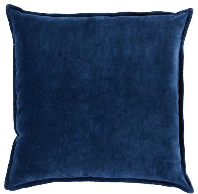 Fancy Modern Pillows : Surya - Solid/Striped Cotton Velvet Decorative Pillow & Reviews Houzz