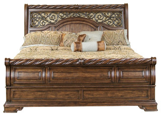 Liberty Furniture Arbor Place Sleigh Footboard King Bed Mediterranean Sleigh Beds By Emma