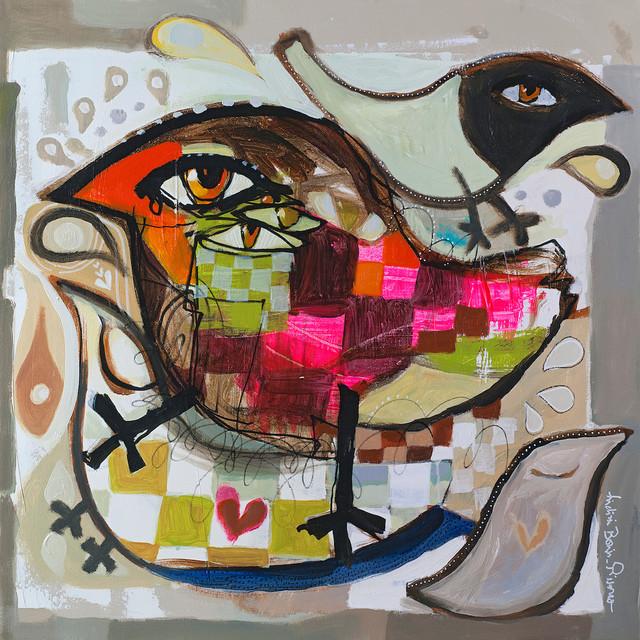 "Pissarro ""love Birds"", 36""x36""."