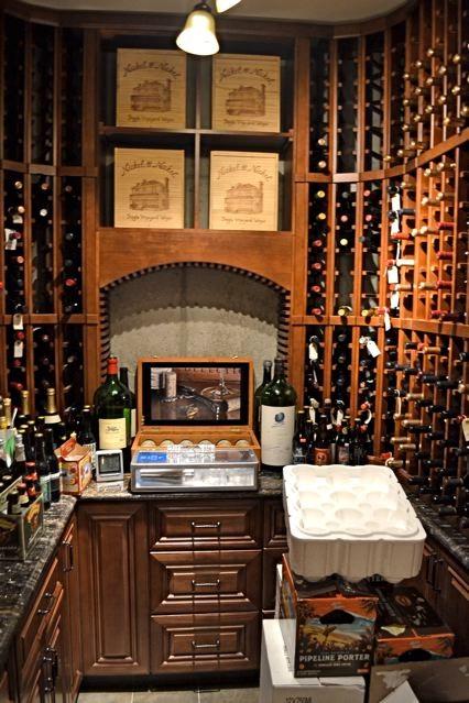 Mediterranean Villa Wine room
