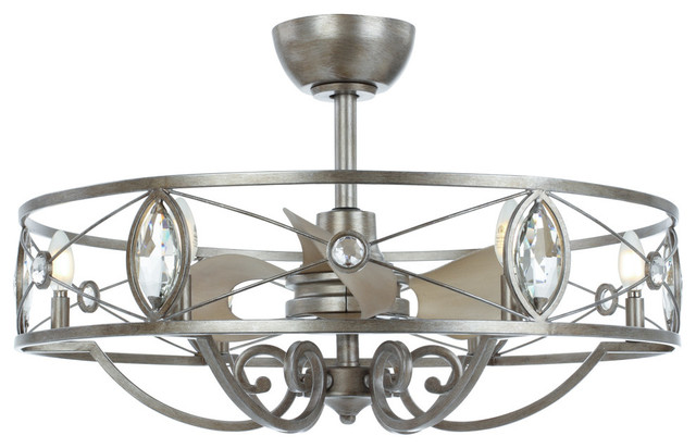 Solitaire 6 Light Led Fandelier Traditional Ceiling
